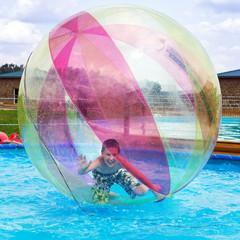 Zorbing. Entertainment on water