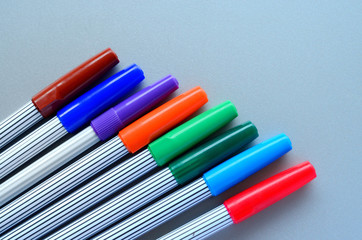 Variety of colored pens