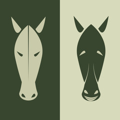Vector image of an horse mask