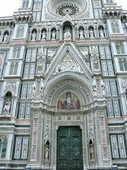 The entrance of the cathedral of Florence