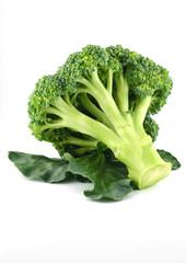 Keuken foto achterwand Verse groenten Fresh raw broccoli isolated on white background