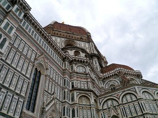 A detail of the dome of Florence