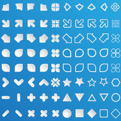 set of modern design elements