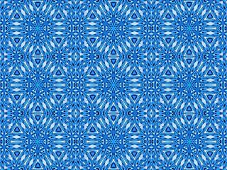 Blue seamless geometric pattern