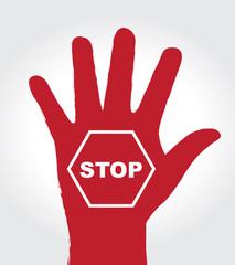 hands stop