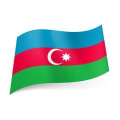 State flag of Azerbaijan.