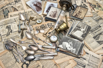 Antique goods prepared for second hand sale