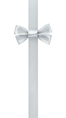 silver ribbon bow border