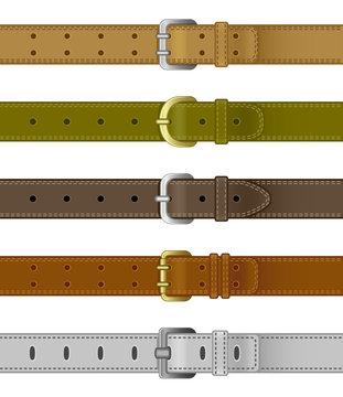 Set of leather belts