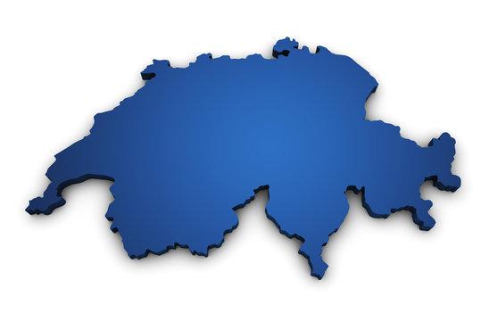 Map Of Switzerland 3d Shape