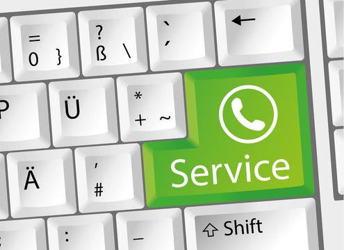 Service - Support - Telefon - Tastatur deutsch
