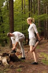 junges Paar beim Freizeitsport