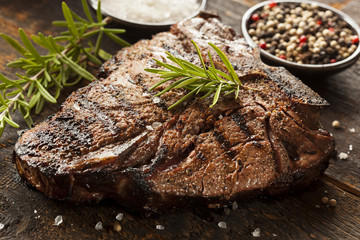Wall Mural - Grilled BBQ T-Bone Steak