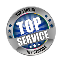 Bügel Button Top Service Blau