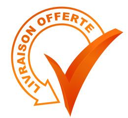 Fototapete - livraison offerte sur symbole validé orange