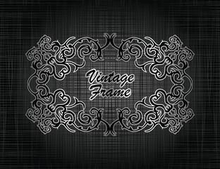 Elegant vintage frame. Grunge background