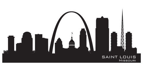 Wall Mural - Saint Louis Missouri city skyline vector silhouette