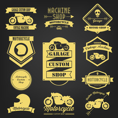 Premium Motorcycle Vintage Label