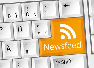 Newsfeed RSS Nachrichten Tastatur deutsch