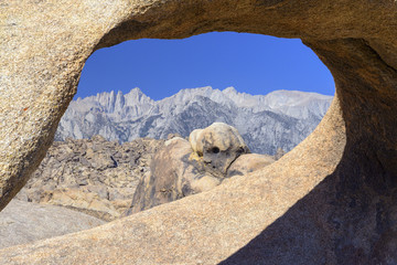 Mt Whitney through Arch Rock