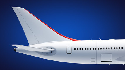 Airplane tail section Wall mural
