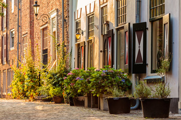 Old houses in the historic center of the Dutch city Amersfoort