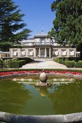 Garden with fountain in El Escorial, Madrid