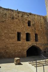 Knight templar castle in Old Acre, Israel