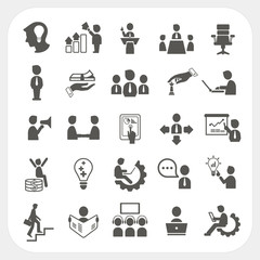 Management and Business icons set