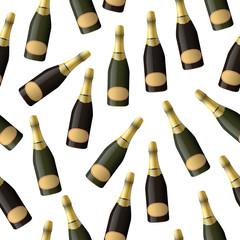 sparkling wine seamless pattern