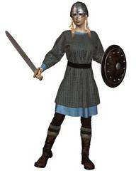 Viking or Anglo-Saxon Shield Maiden