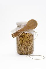 Grain mustard bottle