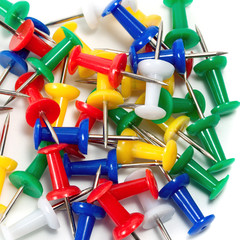 paper pins isolated