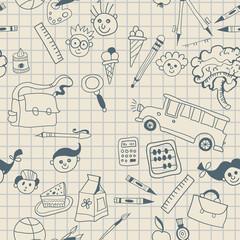 Seamless School pattern background