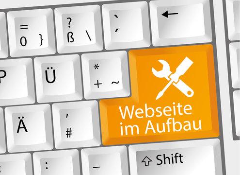 Webseite im Aufbau - Under Construction - Tastatur deutsch