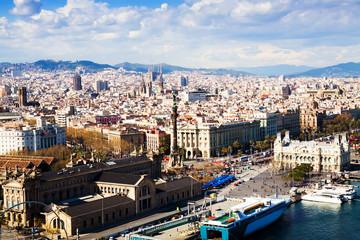 Barcelona city from port side. Catalonia