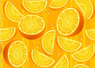 Orange vector seamless texture.