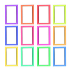 Modern plastic picture frames