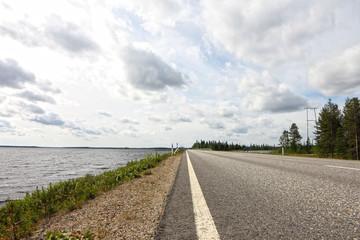 Road near bay