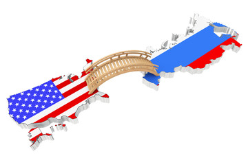 Bridge between USA and Russia