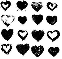 heart silhouette vector illustration