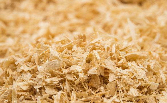 background of wood shavings