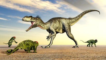 Megalosaurus und Doliosauriscus