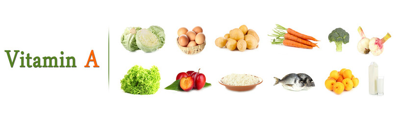 Products which contain vitamin A