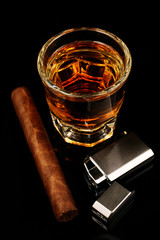Whiskey and a cigar