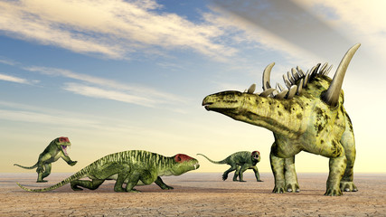 Doliosauriscus und Gigantspinosaurus