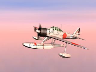 Japanischer Jagdbomber aus dem zweiten Weltkrieg