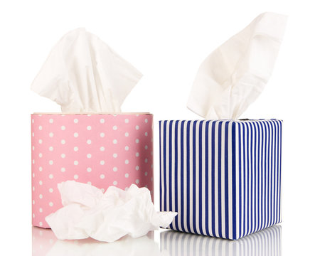 Cleaning wipes isolated on white