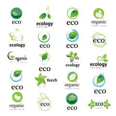 Ecology Icon - Set - Isolated On White Background