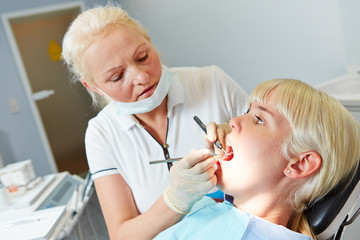 Patient at dentist for dental treatment